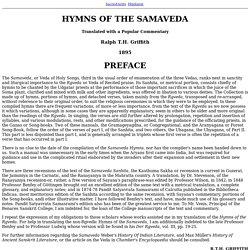 Hymns of the Samaveda