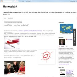 Hynessight: eportfolios - why, how and what?