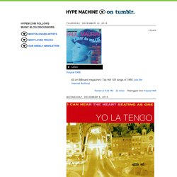 Hype Machine on Tumblr