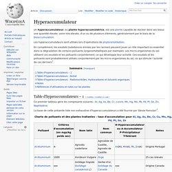 Hyperaccumulateur