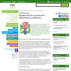 EUFIC - Hyperactivité et colorants alimentaires artificiels