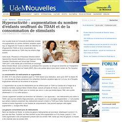 Hyperactivité : augmentation du nombre d'enfants souffrant du TDAH et de la consommation de stimulants