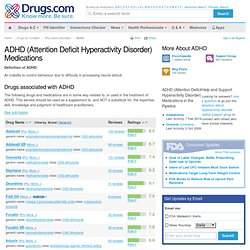 ADHD (Attention Deficit Hyperactivity Disorder) Medication