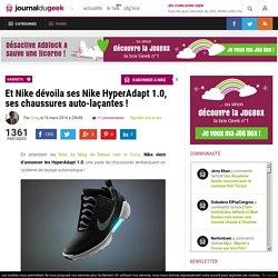 Et Nike dévoila ses Nike HyperAdapt 1.0, ses chaussures auto-laçantes !