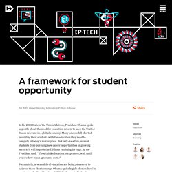 A framework for student opportunity