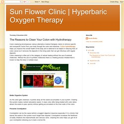 Hyperbaric Oxygen Therapy : The Reasons to Clean Your Colon with Hydrotherapy