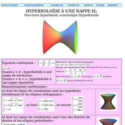 Hyperboloïde à une nappe
