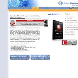 HyperCam - download powerful screen capture software / HyperCam