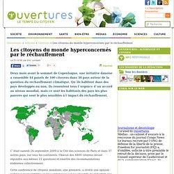2009/10/01 - Les citoyens du monde hyperconcernés par le réchauffement