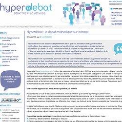 Hyperdébat : le débat méthodique sur internet