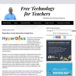 Hyperdocs: Create Interactive Google Docs