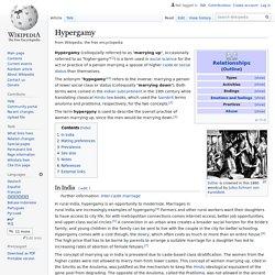 Hypergamy - Wikipedia
