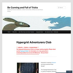 """Hypergrid Adventurers Club"" Homepage"