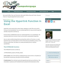 Using the Hyperlink Function in Excel - Computergaga Blog