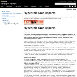 Hyperlink Your Reports