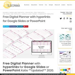 Free Digital Planner with hyperlinks for Google Slides or PowerPoint