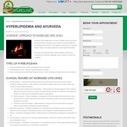 Hyperlipidemia and Ayurveda - Ayurclinic Melbourne