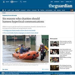 Six reasons why charities should harness hyperlocal communications