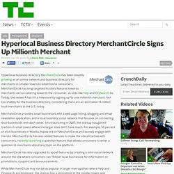 Hyperlocal Business Directory MerchantCircle Signs Up Millionth