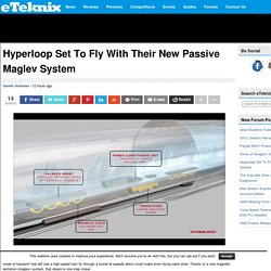 Hyperloop Set To Fly With Their New Passive Maglev System