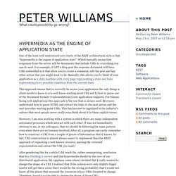 Peter Williams - Hypermedia as the Engine of Application State