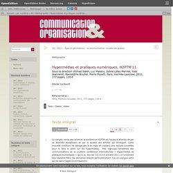 Hypermédias et pratiques numériques. H2PTM'11