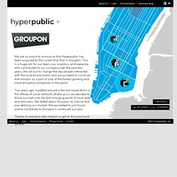 Hyperpublic - The world's local data at your fingertips