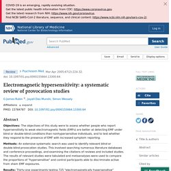 Electromagnetic hypersensitivity: a systematic review of provocation studies - PubMed