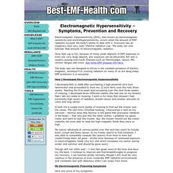 Electromagnetic Hypersensitivity – Symptoms, Prevention and Recovery