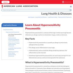 Learn About Hypersensitivity Pneumonitis