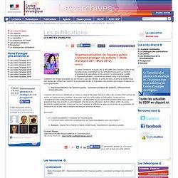 Hypersexualisation de l'espace public : comment protéger les enfants ? (Note d'analyse 267 - Mars 2012