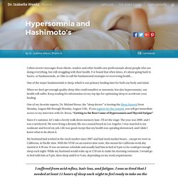 Hypersomnia and Hashimoto's