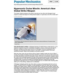 Print - Hypersonic Cruise Missile: America's New Global Strike W