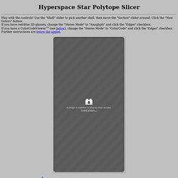Hyperspace Star Polytope Slicer