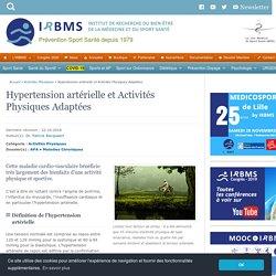 Hypertension artérielle et Activités Physiques Adaptées (APA)