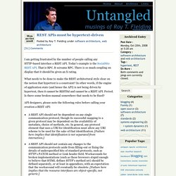 REST APIs must be hypertext-driven » Untangled
