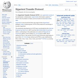 Hypertext Transfer Protocol - Wikipedia