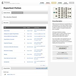 Hypertext Fiction → Fictionaut
