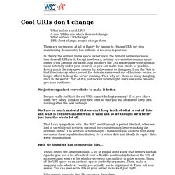 Hypertext Style: Cool URIs don't change.