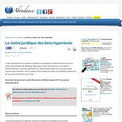 Le statut juridique des liens hypertexte