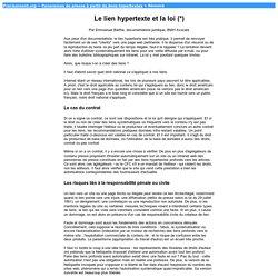 Le lien hypertexte et la loi