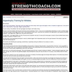 Hypertrophy Training for Athletes