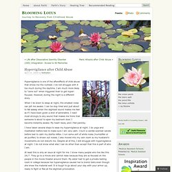Hypervigilance after Child Abuse « Blooming Lotus