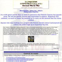 HyperWar: World War II on the World Wide Web