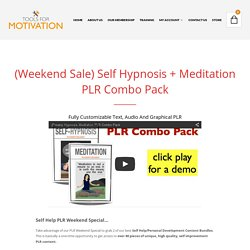 Hypnosis Meditation PLR Combo Pack