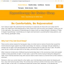 Are you suffering from a sleeping problem? Get the best tips here for Why Can't You Get Good Sleep and, How Does Hypnotherapy Work for Better Sleep? with the best Sleep Therapist in Brisbane