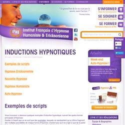 Inductions Hypnotiques Formation Hypnose : Institut Français d'Hypnose Ericksonienne & Nouvelle Hypnose