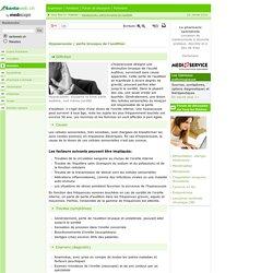 Hypoacousie / perte brusque de l'audition: définition
