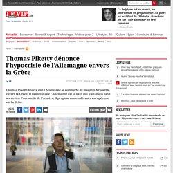 Thomas Piketty dénonce l'hypocrisie de l'Allemagne envers la Grèce
