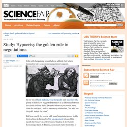 Study: Hypocrisy the golden rule in negotiations